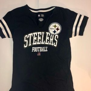 Steelers NFL Brand women's short sleeve tee shirt.